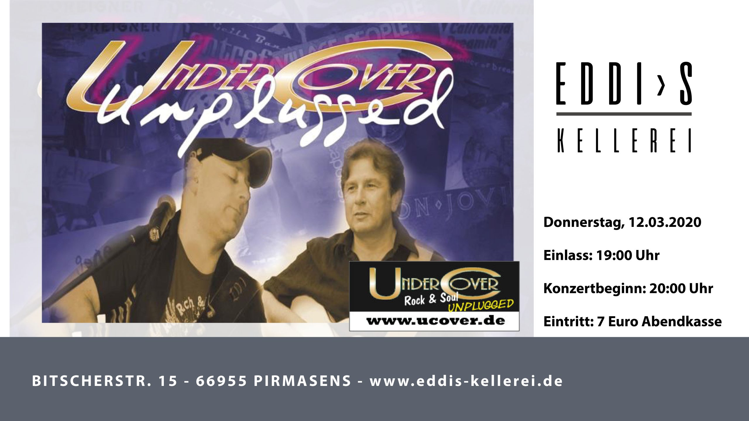 UnderCover unplugged in Eddi´s Kellerei